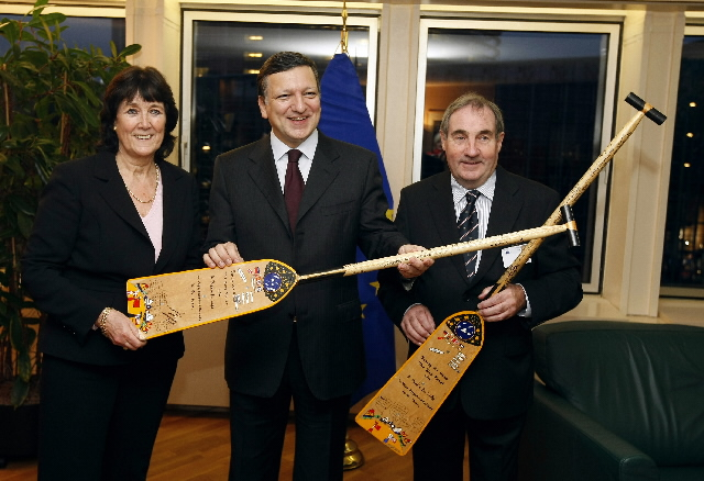 Signature of the Paddle for life project for the fight against the climate change
