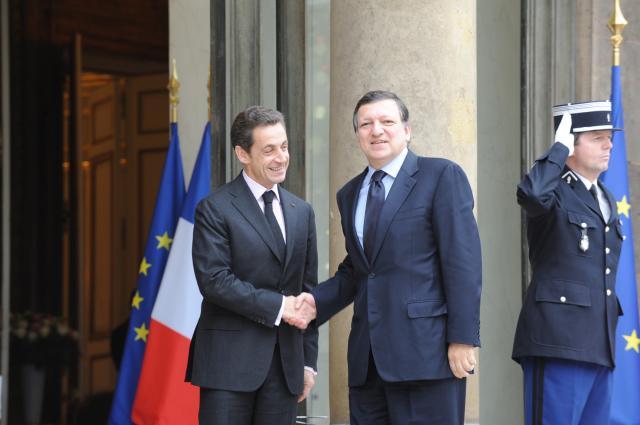 Visite de José Manuel Barroso, président de la CE, à Paris