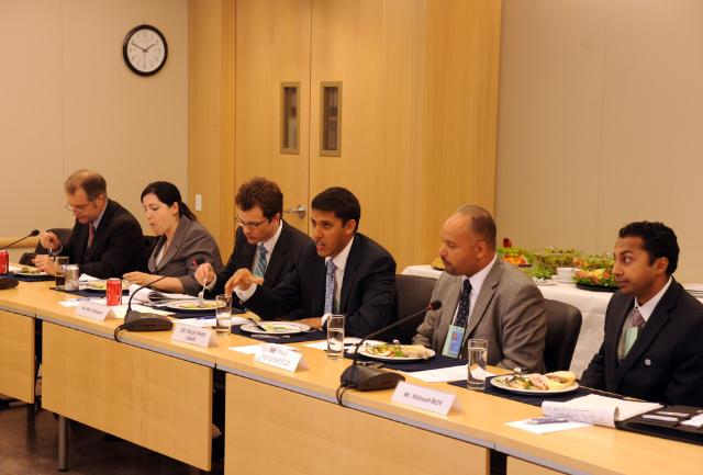 Visit of Catherine Ashton, Kristalina Georgieva and Andris Piebalgs, Members of the EC, to New York