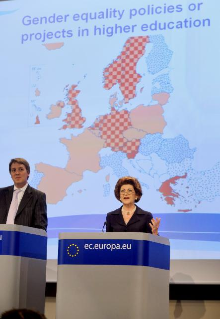 Press conference by Androulla Vassiliou, Member of the EC, on Gender equality in education