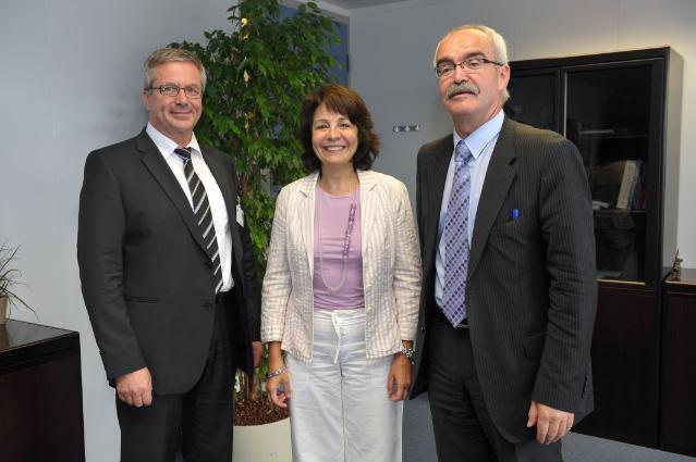 Visite de Werner Kuhn, membre du PE, à la CE
