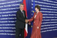 Visite d'Heinz Fischer, président fédéral de l'Autriche, à la CE