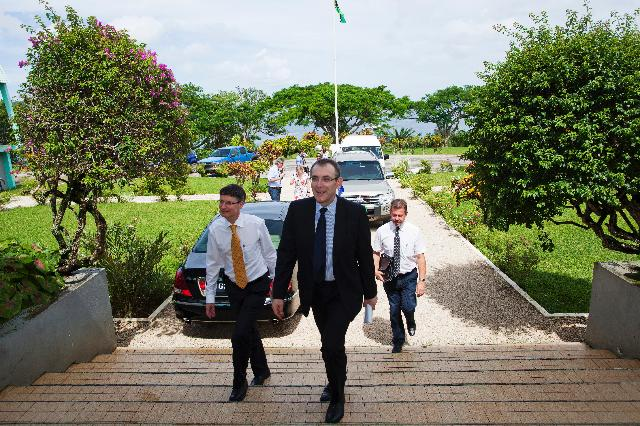 Participation d'Andris Piebalgs, membre de la CE, au forum sur le changement climatique, au Vanuatu