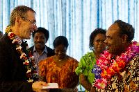 Participation of Andris Piebalgs, Member of the EC, at the Forum on Climate Change, in Vanuatu