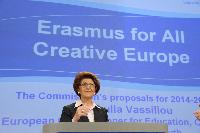 Press conference by Androulla Vassiliou, Member of the EC, on the programmes 'Erasmus for All' and 'Creative Europe 2014-2020'