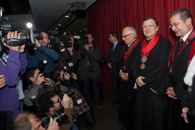 Award of the degree of Doctor Honoris Causa from the Technical University of Lisbon to José Manuel Barroso