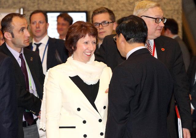 Visite de Catherine Ashton, vice-présidente de la CE, en Turquie
