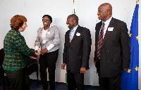 Visite de Elton Mangoma, Patrick Chinamasa et Priscilla Misihairabwi-Mushonga, ministres zimbabwéens, à la CE