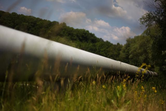 The Druzhba pipeline near Czech-Slovak border