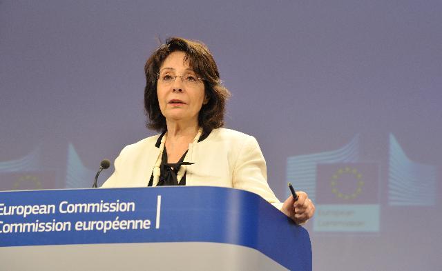 Conférence de presse de Maria Damanaki, membre de la CE, sur la lutte contre la pêche illicite