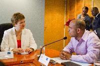 Visit of Kristalina Georgieva, Member of the EC, to Haiti