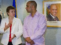 Visite de Kristalina Georgieva, membre de la CE, en Haïti