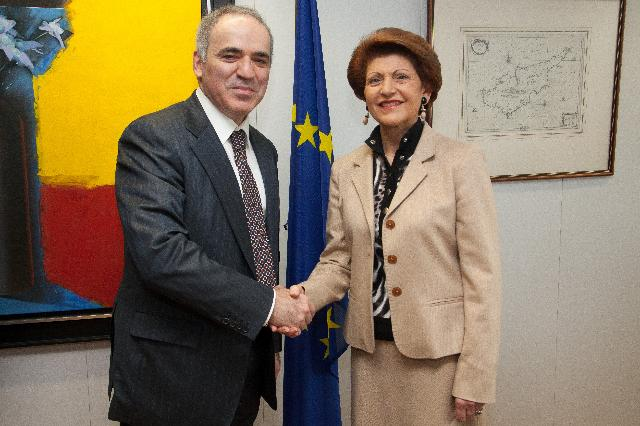 Visit of Garry Kasparov, Former World Chess Champion, Founder of the Kasparov Chess Foundation Europe, to the EC