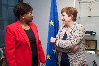 Visit of Adrienne Diop, Member of the Commission of the Ecowas in charge of Gender and Human Development, to the EC