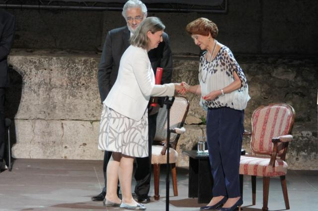 Participation of Androulla Vassiliou, Member of the EC, at the ceremony organised to honour the laureates of the 2013 European Union Prize for Cultural Heritage / Europa Nostra Awards