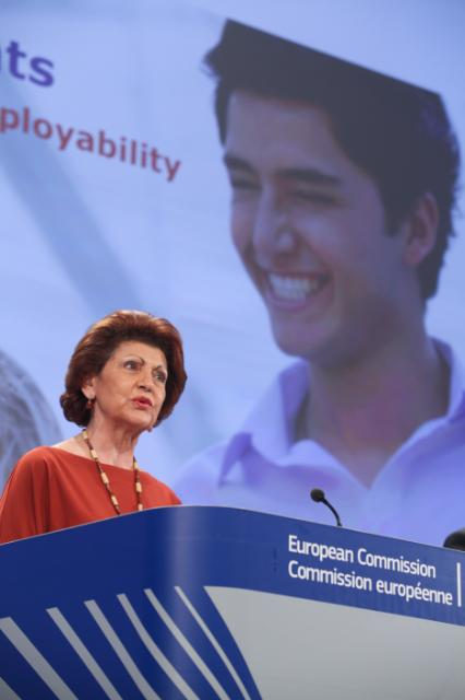 Press conference by Androulla Vassiliou, Member of the EC, on the main Erasmus statistics for the academic year 2011/12