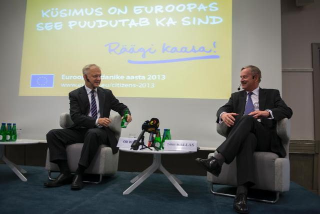 Dialogue avec les citoyens à Tallinn avec Siim Kallas et Olli Rehn