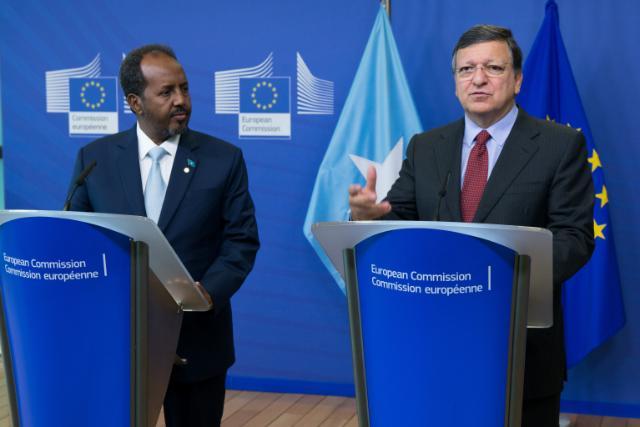 Visite d'Hassan Sheikh Mohamud, président de la Somalie, à la CE