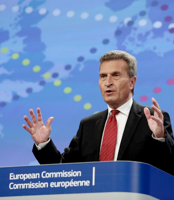 Press conference by Günther Oettinger, Member of the EC, on the list of 'projects of common interest' in energy infrastructure