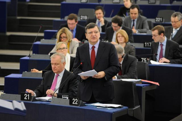 Participation of several Members of the College of the Barroso II Commission in the EP plenary session
