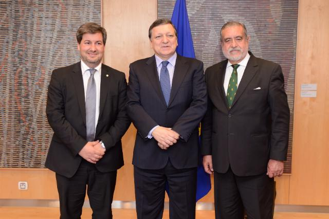 Visit of Bruno de Carvalho, President of the Sporting Clube de Portugal, to the EC