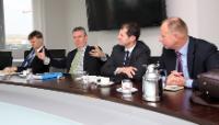 Visite de Karel De Gucht, membre de la CE, en Allemagne