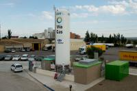 A Natural Gas Filling Station in Zaragoza : Spain