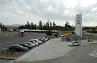 A Natural Gas Filling Station in Zaragoza, Spain