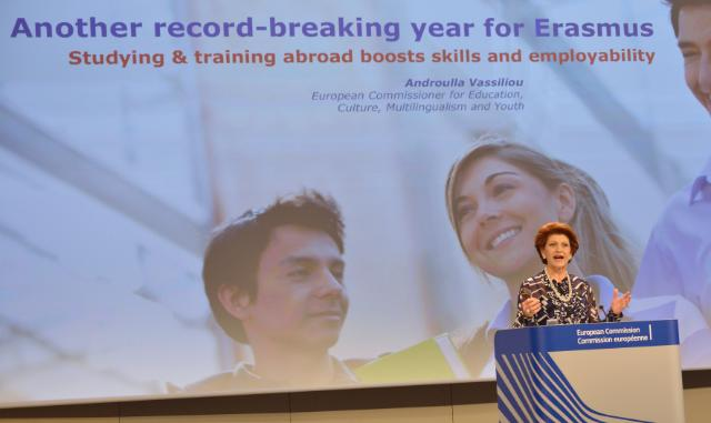 Press conference by Androulla Vassiliou, Member of the EC, on the figures for the Erasmus programme for 2012-13 and the call for Member States to nominate more women in the new College