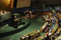 """Illustration of """"Participation of Andris Piebalgs, Member of the EC, at the 69th plenary session of the United Nations..."""