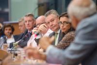 """Illustration of """"Participation of Karel De Gucht, Member of the EC, at the EP conference on external trade and investment..."""