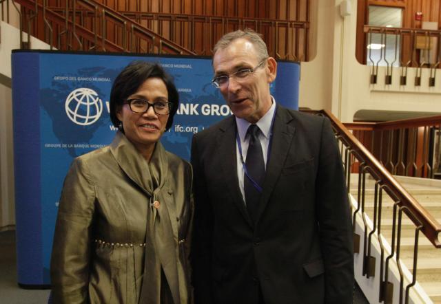 Visite d'Andris Piebalgs, membre de la CE, aux Etats-Unis