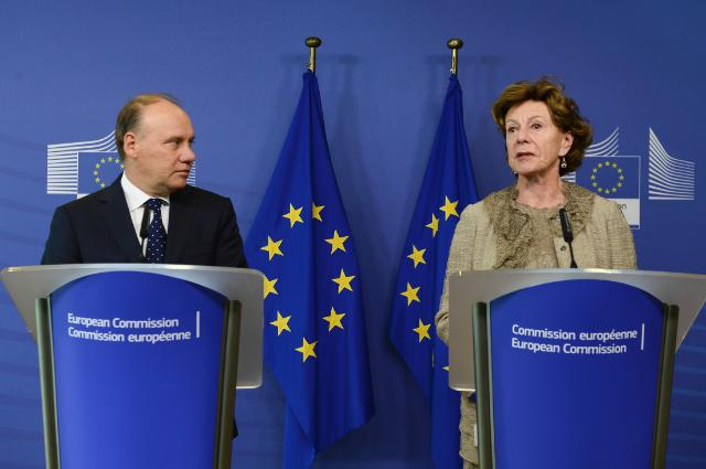 Joint press conference by Jan Sundelin, President of the 'Big Data Value Association' and CEO of TIE Kinetix, and Neelie Kroes, Vice-President of the EC, on the launch of a public-private partnership to master big data