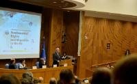 """Illustration of """"Participation of Dimitris Avramopoulos, Member of the EC, at the Fundamental Rights Annual Conference, in..."""