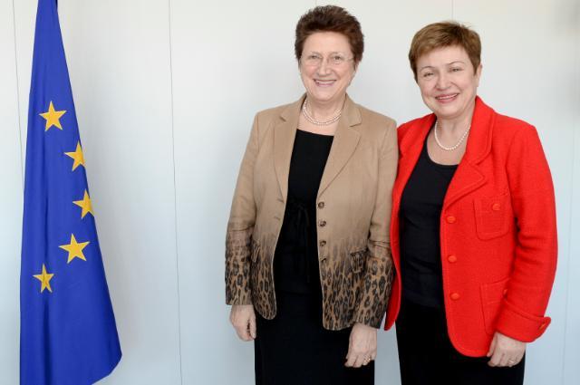 Visite d'Elena Kirtcheva, membre du conseil d'administration et secrétaire générale du Forum économique de Vienne, à la CE