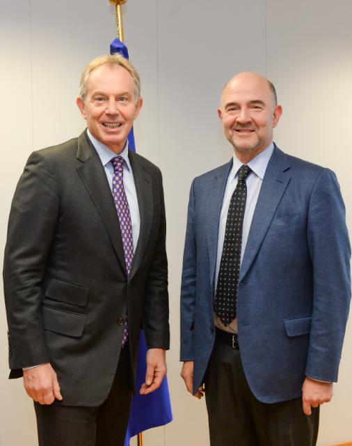 Visite de Tony Blair, représentant du Quartet pour le Moyen-Orient, à la CE