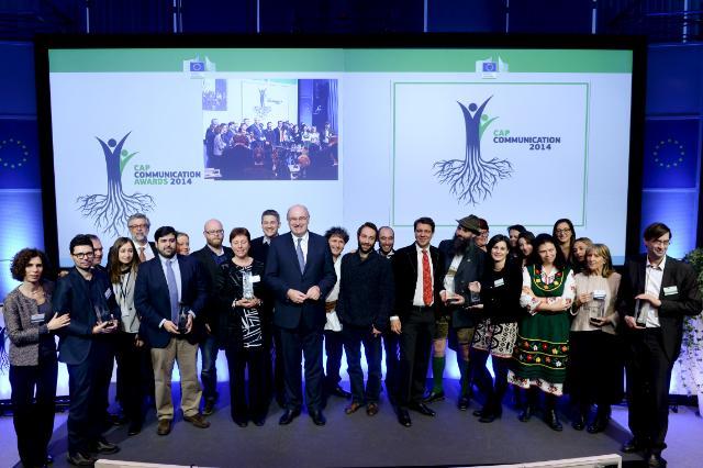 Cérémonie de remise des Prix de la communication sur la PAC 2014, avec la participation de Phil Hogan, membre de la CE
