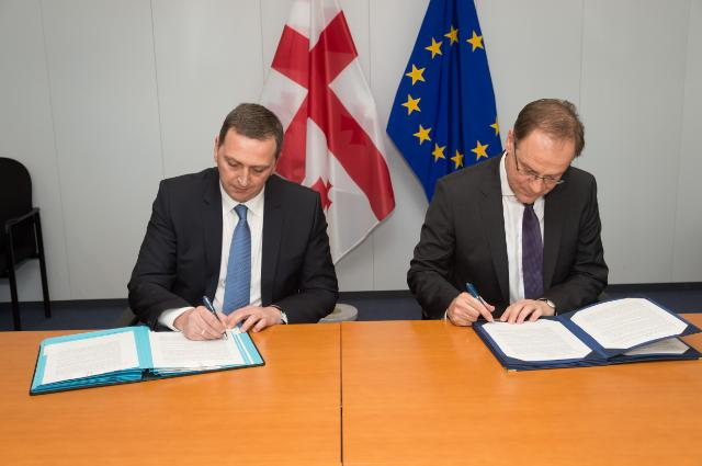 Cérémonie de signature du programme 'Europe créative' avec la Géorgie