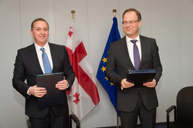 Signature ceremony for the 'Creative Europe' Programme with Georgia