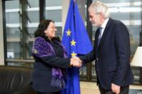 """Illustration of """"Visit of Marcia Cobas Ruíz, Cuban Deputy Minister for Public Health, to the EC"""""""