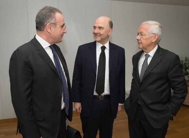 Visite de Loïc Armand, président de L'Oréal France et directeur général des Relations extérieures du Groupe L'Oréal, et Marc-Antoine Jamet, secrétaire général du Groupe LVMH, à la CE