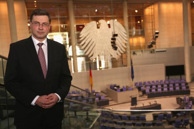 Visit of Valdis Dombrovskis, Vice-President of the EC, to Germany