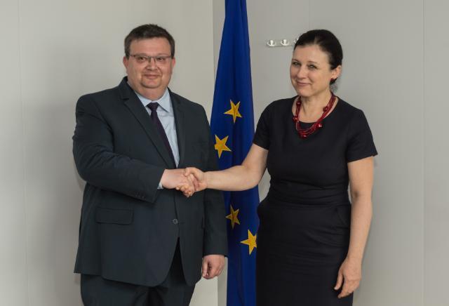 Visite de Sotir Tsatsarov, procureur général  bulgare, à la CE