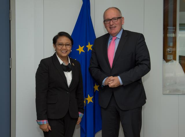 Visit of Retno Marsudi, Indonesian Minister for Foreign Affairs, to the EC