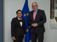 Visite de Retno Marsudi, ministre indonésienne des Affaires étrangères, à la CE