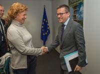 Visite de Monica Frassoni, présidente de l'Alliance européenne pour économiser l'énergie, à la CE