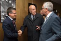 Visite de Valéry Giscard d'Estaing, président honoraire d'Atomium Culture, à la CE