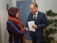 Visite d'Angela Constance, ministre de l'Education et de l'Apprentissage continu du gouvernement écossais, à la CE