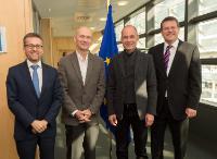 Visite de Bertrand Piccard, président et initiateur du projet Solar Impulse, à la CE
