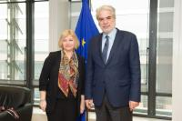 Visit of Iryna Volodimirivna Herashchenko, Chairperson of the Committee on European Integration of the Ukrainian Parliament and Presidential Envoy for the peaceful settlement of the conflict in the country's eastern Donetsk and Luhansk regions, to the EC